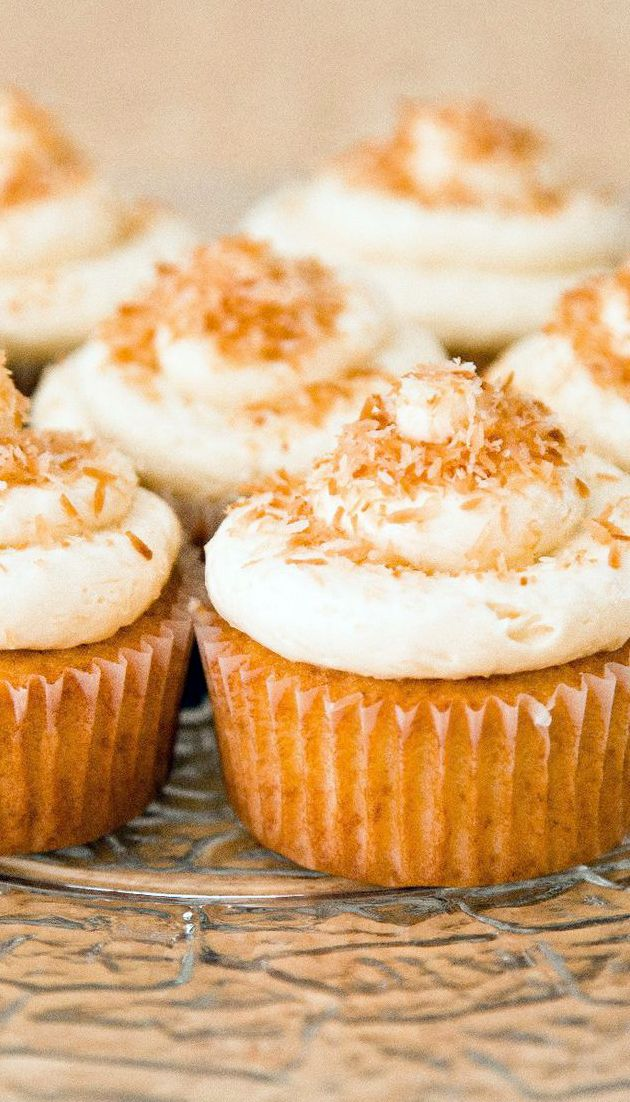 Coconut Cupcakes with Coconut Cream Cheese Frosting Recipe