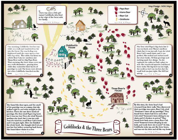 Goldilocks and the Three Bears - Fairy Tale Map by MapandDesign on ...