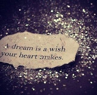 A dream is a wish your heart makes... for more inspirational quotes: http://blog.brayola.com