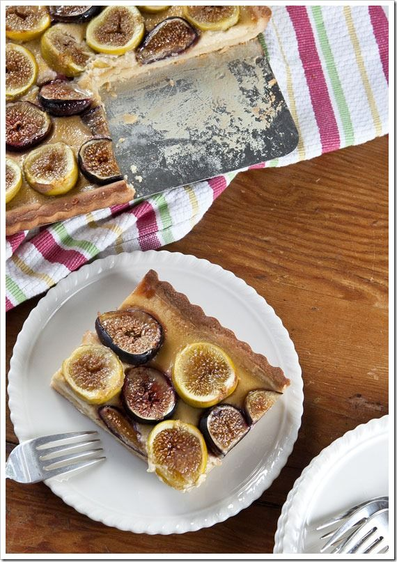Fresh Fig Tart with Orange Flower Custard | Sticky, Gooey, Creamy ...