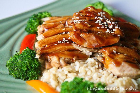 Orange Infused Chicken Teriyaki! Dinner tonight!
