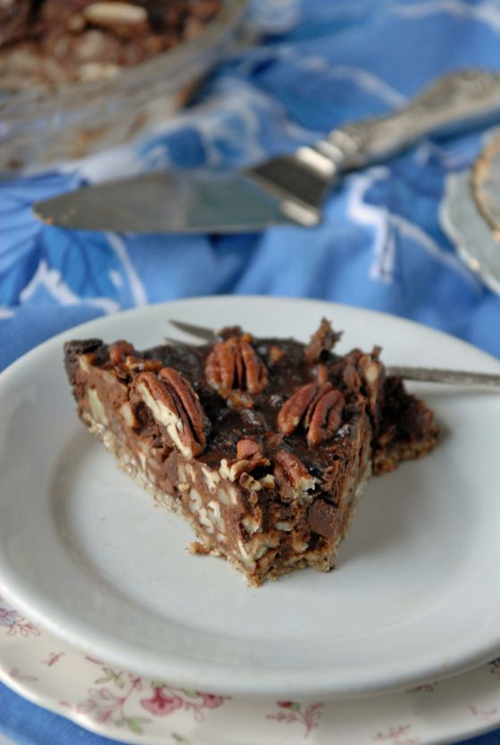 Chocolate Pecan Pie with Oat and Date Crust | The Frosted Vegan