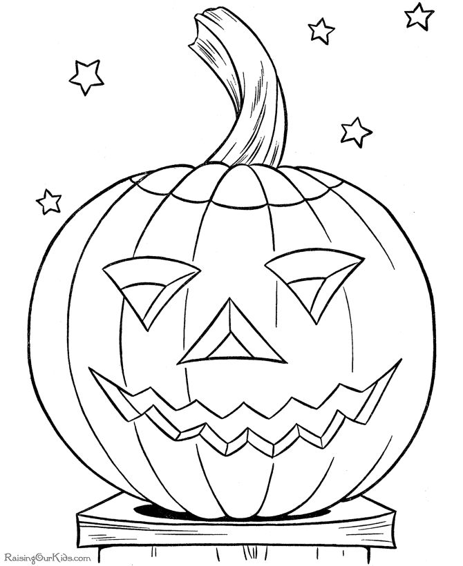 Halloween coloring sheets 1st
