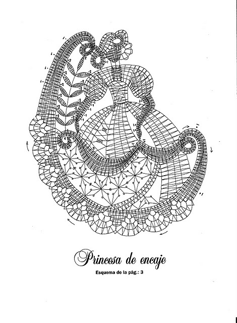 Bobbin lace lady