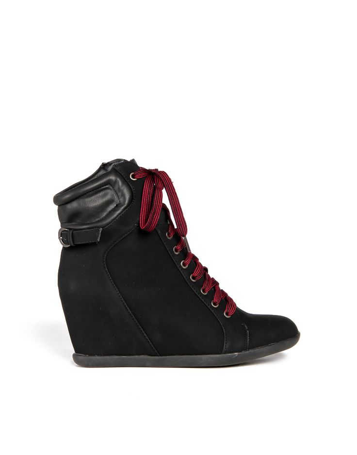 Laced Up Wedge Sneakers
