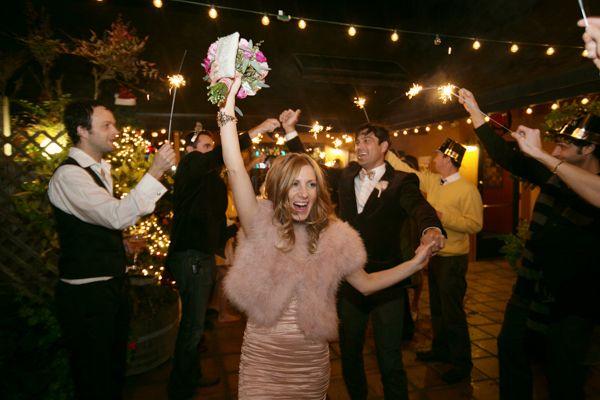 Romantic New Year's Eve Wedding