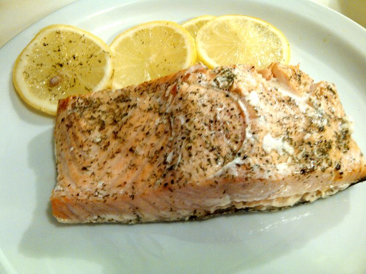 Salmon baked in parchment paper at 425 degrees with olive oil, salt ...