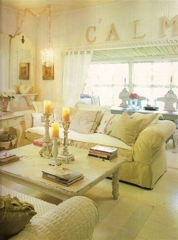 Shabby Chic Living Room Romantic Shabby Pretties Pinterest