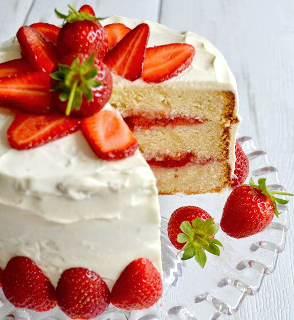 Strawberry Lemon Layer Cake | eatwell101.com