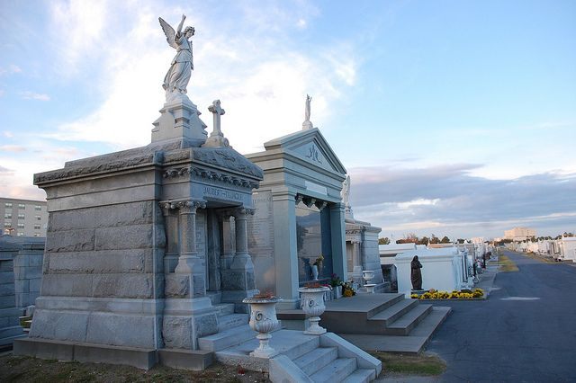 Angel guarding a grave in New Orleans