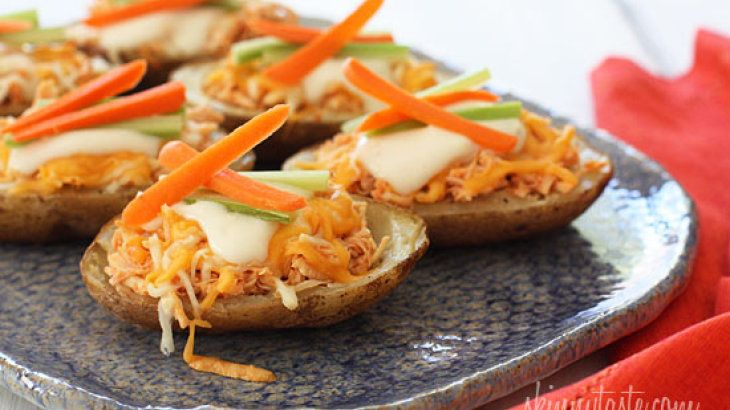Buffalo Chicken Potato Skins | Food to cook | Pinterest