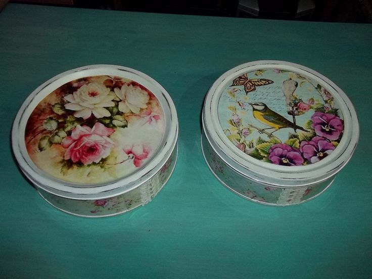 Cajas De Lata- Shabby Chic-decoracion-antiguo-