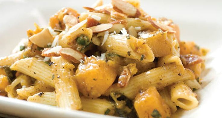 Pasta w/ butternut squash and sage. @Tom McAnulty says this is yummy!