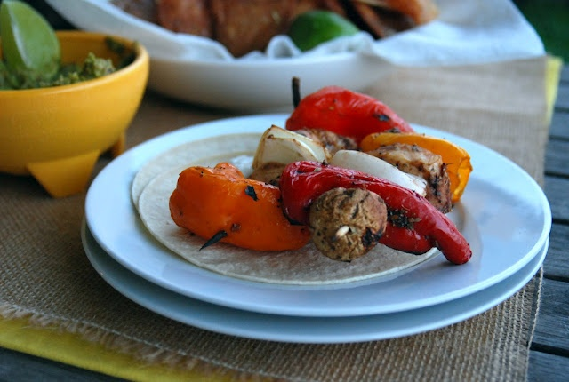 Grilled Chicken Fajita Kabobs | Recipe