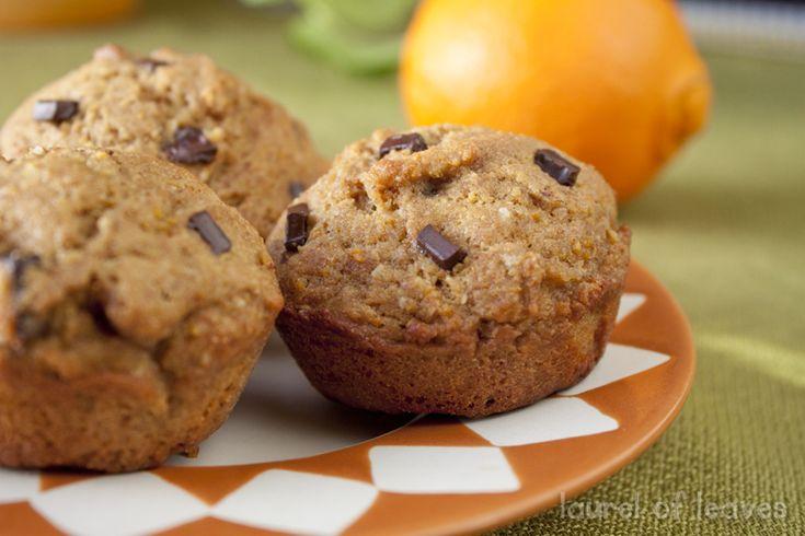 Whole Orange Chocolate Chip Muffins--she uses coconut sugar & maple ...