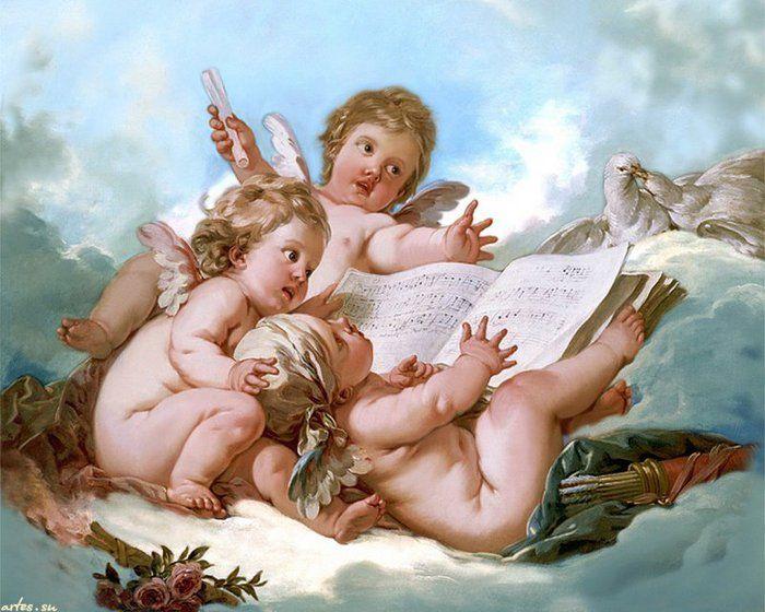 Anjos e música!