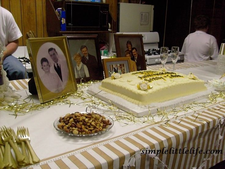 50th Anniversary Party Ideas On A Budget 50th Anniversary Golden