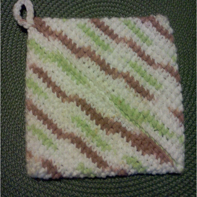 Crocheted hot pad Crochet Pinterest