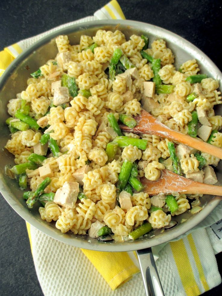 Pasta with asparagus, chicken & goat cheese - Baking, domesticity, and ...