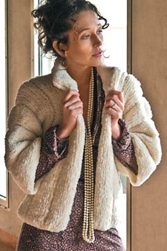 Free Pattern: Faux-Fur Jacket knitting Pinterest