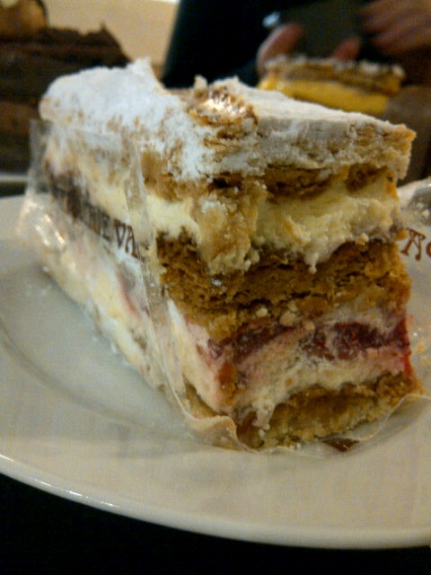 My Strawberry Mille Feuille (entered into the Patisserie Valerie competition) : Monday April 9th