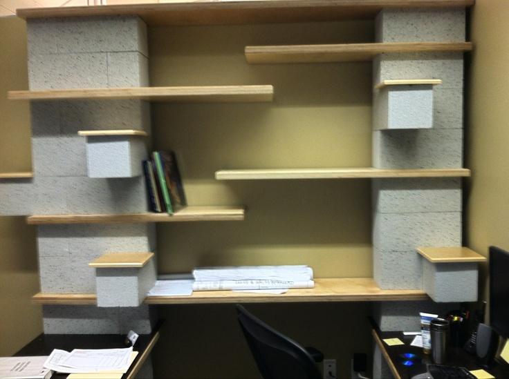 concrete block desk bloquera pinterest
