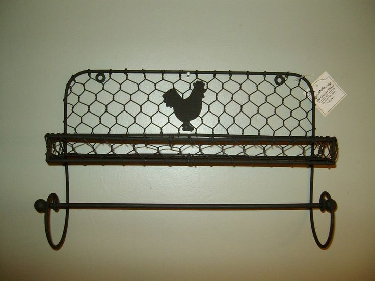 Chicken Wire Paper Towel Holder Spice Rack