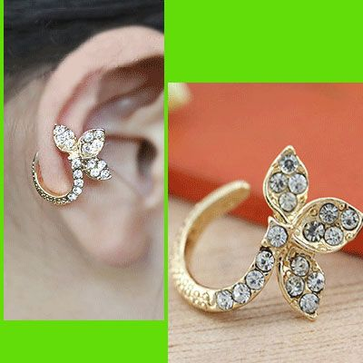 Clover Rhinestone Wrapping Ear Cuff (Single, No Piercing) | LilyFair Jewelry, $13.99!