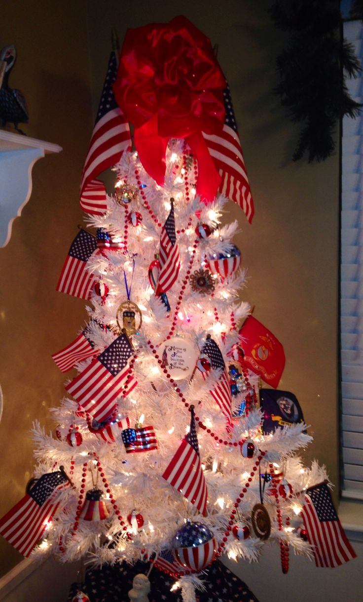 Our Patriotic Christmas Tree Americana And The Fourth