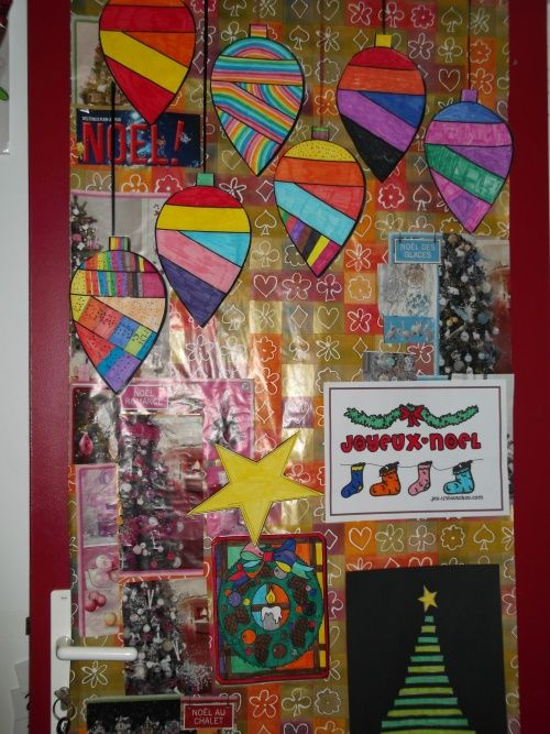 D corer sa porte de classe abcd noel pinterest for Decoration porte rentree des classes