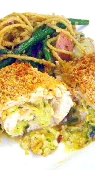 Chicken Rollatini Stuffed with Zucchini and Mozzarella Ala SkinnyTaste ...