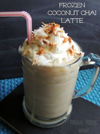 Frugal Foodie Mama: Frozen Coconut Chai Latte {& A Silk #yaywater ...