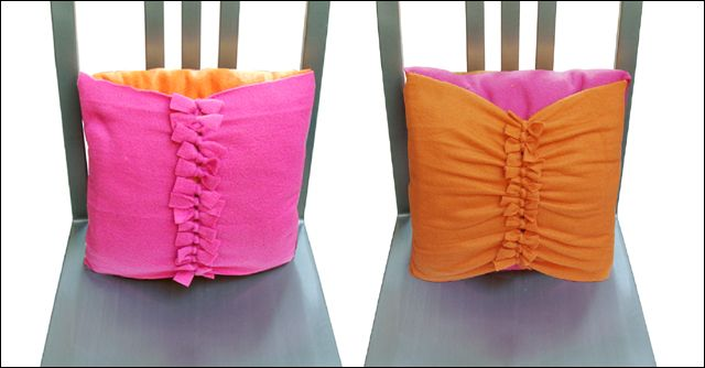 How To Make No Sew Throw Pillow Covers : no sew fleece pillow cover Camping Pinterest