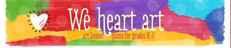 We Heart Art, art lesson plans for grades K-5
