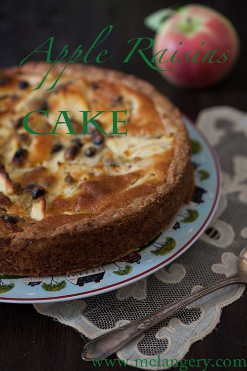 Grand Marnier Apple Raisins Cake at Cooking Melangery