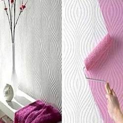 Fabric Wallpaper you can paint  HMMMM!