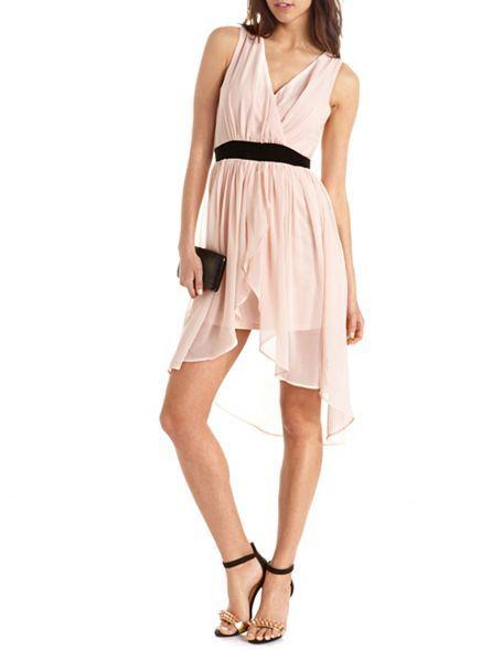 Surplice Chiffon Hi-Low Dress: Charlotte Russe Graduation dress?