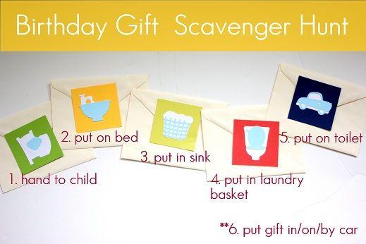 birthday present scavenger hunt ideas