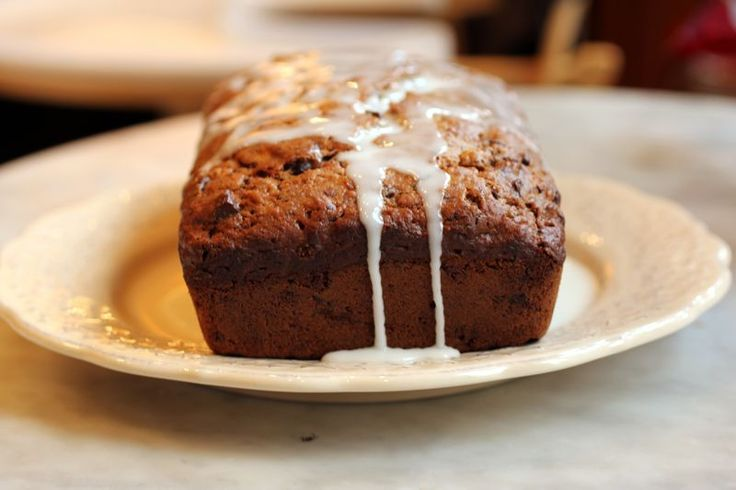 Lemony Olive Oil Banana Bread with Chocolate Chips -This is in my oven ...