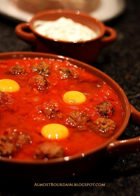 ... Bourdain: Kefta Mkaouara (Spicy Egg, Meatball and Tomato Tagine