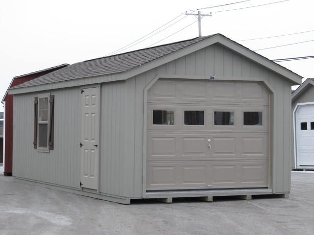 a frame single car garage storage sheds pinterest