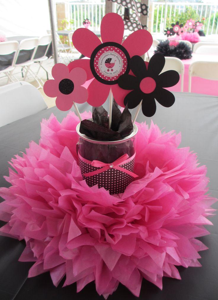 Pink black baby shower inspiring ideas pinterest