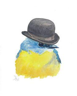 bird in hat | B For Bi...