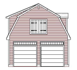 Gambrel Garage Plans Home Design Pinterest