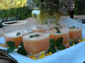 Chilled Organic Melon Champagne Soup - I've got to try this this ...