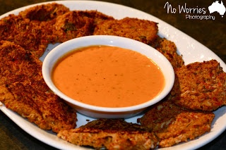 Skinny Crab Cakes & Roasted Red Pepper Aioli