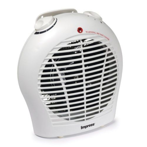 Impress small electric space heater w fan adjustable thermostat por - Small portable space heater paint ...