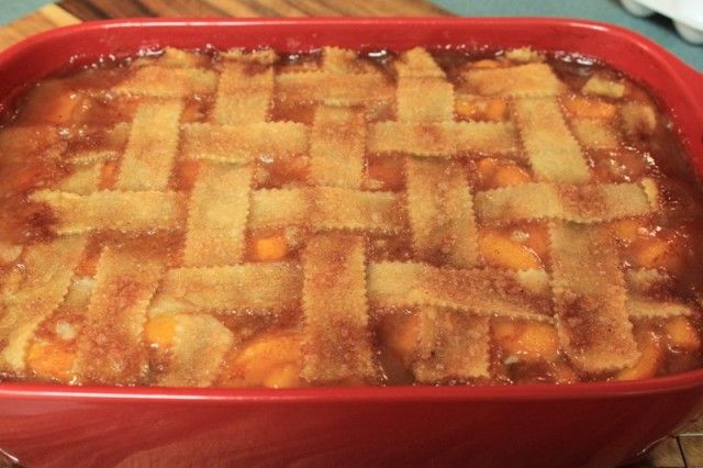Old Fashioned Triple Crust Peach Cobbler | Peach recipes | Pinterest