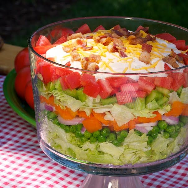 Cousin Annie's 7-Layer Salad with Thousand Island Dressing in Recipes ...