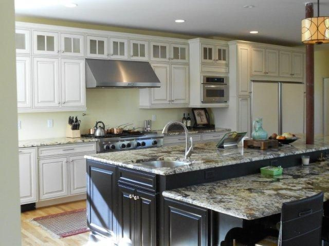 Kitchen islands with table seating staggered height kitchen island
